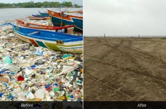 Mumbai's Versova Beach Undergoes Drastic Makeover In Mega Clean Up Drive