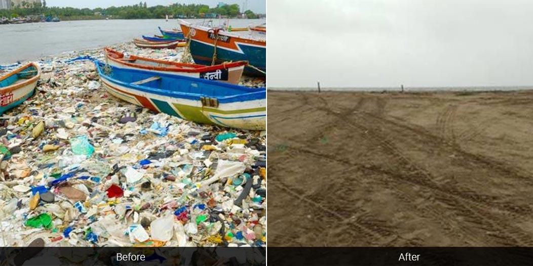 Mumbai's Versova Beach Undergoes Drastic Makeover In Mega Clean Up Drive